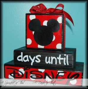 Disney Countdown Calendar Blocks {A Sprinkle of This . . . . A Dash of That}
